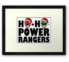 Ho-Ho Power Rangers Framed Print