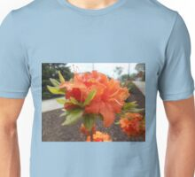 Orange Azalea Flower Unisex T-Shirt