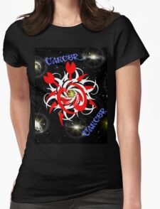 Cancer - Astrology Sign Womens Fitted T-Shirt