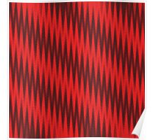 Red Zigzag Pattern Poster