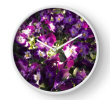 Pansies Clock