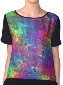 Rainbow waves Chiffon Top