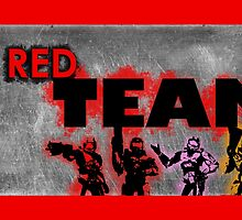 Red vs Blue: Red Team Print by SargeMac