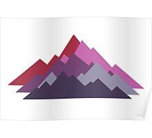 Painted Peaks Poster