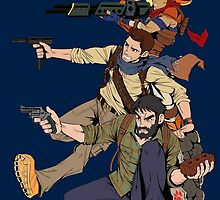 Naughty Dog - Drake, Joel, Jak by KentaroPJJ