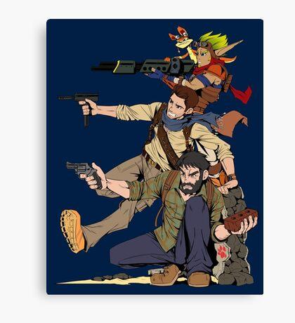 Naughty Dog - Drake, Joel, Jak Canvas Print