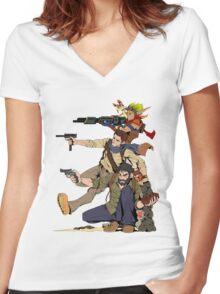 Naughty Dog - Drake, Joel, Jak Women's Fitted V-Neck T-Shirt