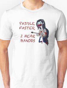 Paddle Faster I hear Banjos (With phrase) Unisex T-Shirt