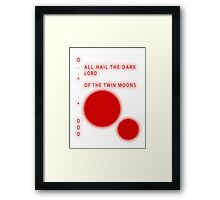 The Simpsons - SAMPSANS - ALL HAIL THE DARK LORD OF THE TWIN MOONS Framed Print