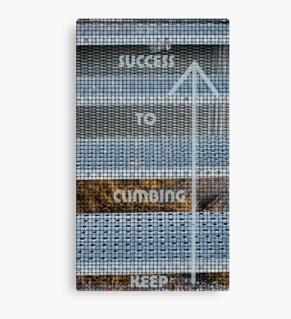Keep Climbing To Success! Stairs Canvas Print