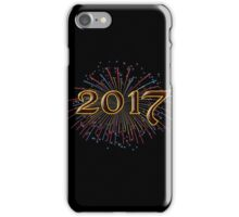 2017 New Years Eve Party Unique Blue Red Yellow and Green Fireworks Hoodies and T-Shirts iPhone Case/Skin