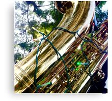 Merry Christmas from a Saxophone... Canvas Print