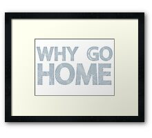 Why Go Framed Print