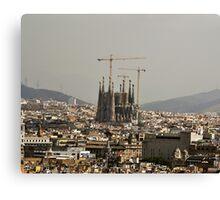 """Church of Perpetual Construction"" (Sagrada Familia) Canvas Print"