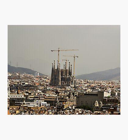 """Church of Perpetual Construction"" (Sagrada Familia) Photographic Print"