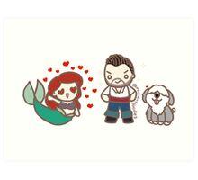 Chris & Mermaid Art Print
