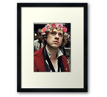 Enjolras with a Flower Crown Framed Print