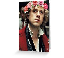 Enjolras with a Flower Crown Greeting Card