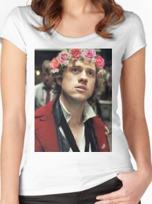 Enjolras with a Flower Crown Women's Fitted Scoop T-Shirt