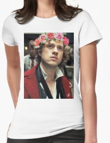 Enjolras with a Flower Crown Womens Fitted T-Shirt