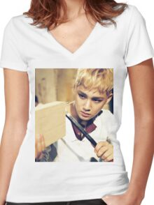 SVT Mingyu Women's Fitted V-Neck T-Shirt