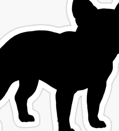 French Bulldog Silhouette(s) Sticker