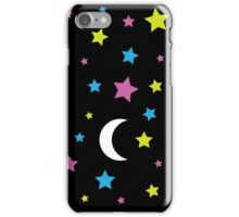 Starry Moon : Stars and Moon Print Design iPhone Case/Skin