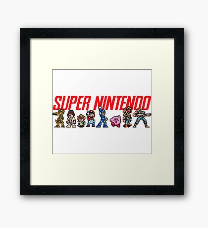 Super Nintendo Games Framed Print