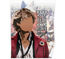 Aaron Tveit Enjolras - Do you hear the people sing? Poster