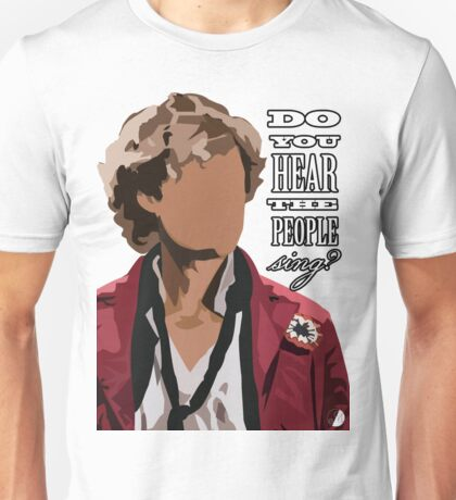 Aaron Tveit Enjolras - Do you hear the people sing? Unisex T-Shirt