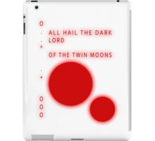 The Simpsons - SAMPSANS - ALL HAIL THE DARK LORD OF THE TWIN MOONS iPad Case/Skin