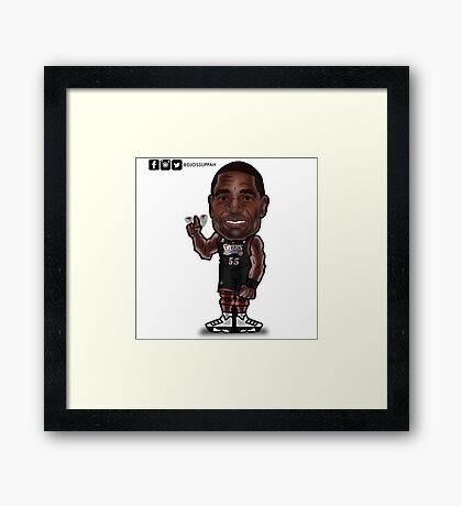 Mutombo Toon Framed Print