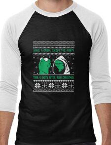 Funny Kermit Ugly Christmas Sweater Men's Baseball ¾ T-Shirt