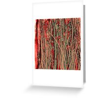 Qualia's Grass (Antique Red) Greeting Card