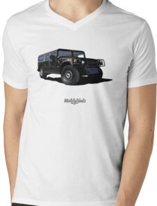 Hummer H1 Wagon (black) Mens V-Neck T-Shirt