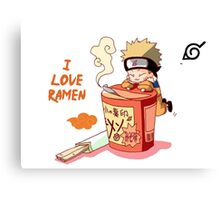 Naruto with Ramen Canvas Print