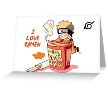 Naruto with Ramen Greeting Card