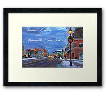 Season's Greetings from Yarmouth Nova Scotia Framed Print