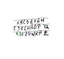 alphabet lamp of stranger things  Photographic Print