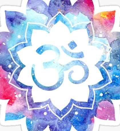 Om Sign Watercolor Mandala Sticker