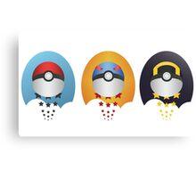 Pokemon Pokeball Set Canvas Print