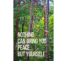 NOTHING CAN BRING YOU PEACE BUT YOURSELF Photographic Print