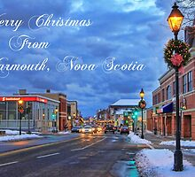 Merry Christmas from Yarmouth Nova Scotia by Debbie  Roberts