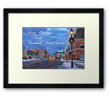 Merry Christmas from Yarmouth Nova Scotia Framed Print