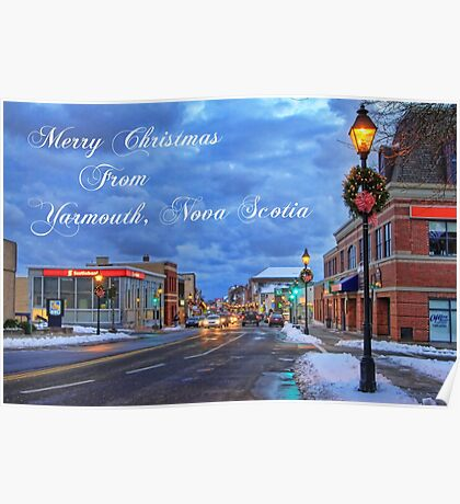 Merry Christmas from Yarmouth Nova Scotia Poster