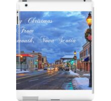 Merry Christmas from Yarmouth Nova Scotia iPad Case/Skin