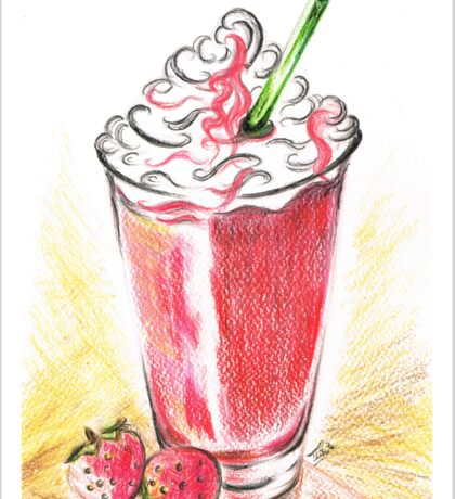 Strawberries and Cream Sticker