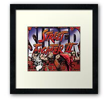 Street Fighter 2 - Super Framed Print