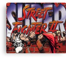 Street Fighter 2 - Super Canvas Print