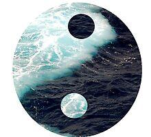 Yin Yang Oceans Photographic Print